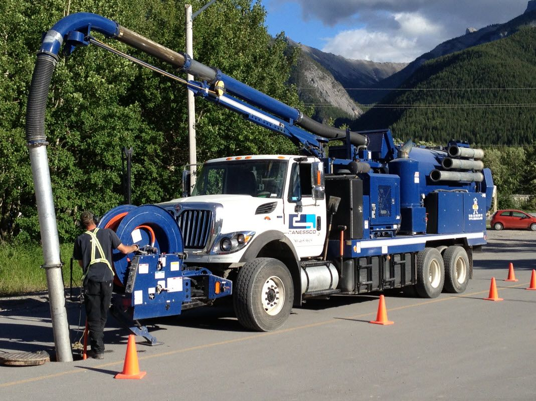 Canessco Truck Sewer Line Cleaning Edmonton